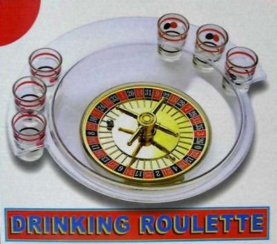 Casino Game Supplies (ROULETTE WHEEL DRINKING GAME party supplies fun adult games casino shot glass )