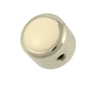 Q-Parts White Dome Knob