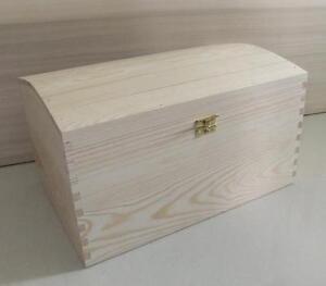 X LARGE TREASURE CHEST PLAIN WOODEN BOX DECOUPAGE CRAFT