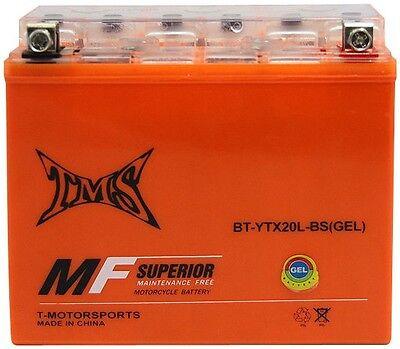Gel Battery Ytx20l Bs For Softail Dyna Sportster Yfm40fb Grizzly Kodiak Trx680fa