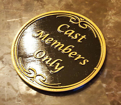 Main Street DW Cast Members Only Inspired Plaque / Sign - Dual Color!