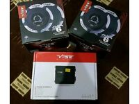 4x vibe black death Car speakers with Vibe Pulse amp
