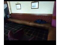 Two pub bench seats