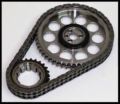 Billet Timing Chain Set - PBM CHEVY SBC RACE BILLET TRUE ROLLER TIMING CHAIN SET OE ROLLER CAM 8975T