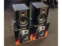 M audio Bx8 monitor speakers