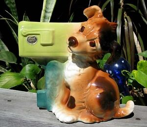 Royal Copley Dog by Mailbox Figurine