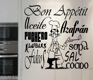 Vinilo decorativo 345 bon app tit sticker paredes cocina - Vinilo decorativo ikea ...