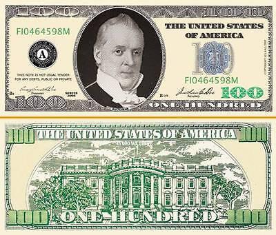 OUR $100 PLAY POKER MONEY DOLLAR BILL (25 Bills) - Play Money 100 Dollar Bills