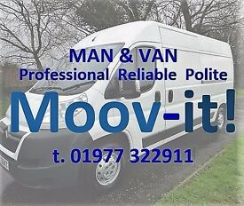Moov-it! Man and Modern Large Van - From Single Items to House Moves - Throughout West Yorks.