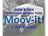 Moov-it! Man and Van - Household Removals / Waste Removal / Items Collected and Delivered