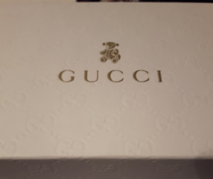 Gucci New Silver Toddler Flats Size 24