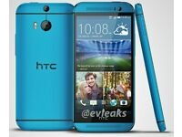 NEW HTC ONE BLUE (M7) 32GB Quad-Core 4.7 Inches Unlocked Android Smart Phone