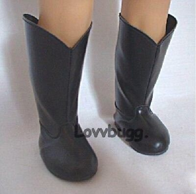 English Black Riding Boots for American Girl 18 inch and Bitty Baby 15 inch Doll Clothes Shoes