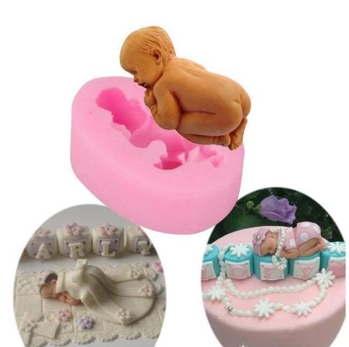 Babyform Silikon Fondant Ausstecher Geburt Taufe