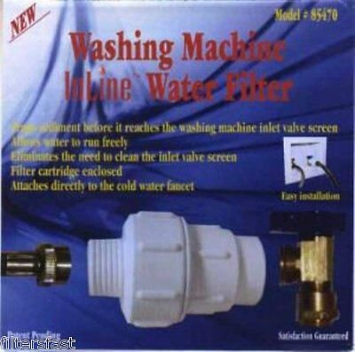 Washing Machine Inline Water Filter Sediment Screen 85470, 1 EACH