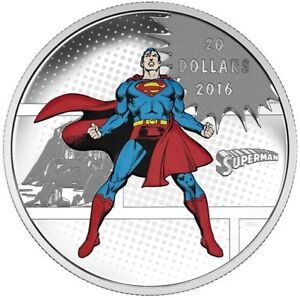 016 DC Comics: Superman THE MAN OF STEEL .9999 Silver Coin
