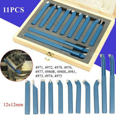 Us 11pcsset 12mm Metal Lathe Tools Knife Bits For Milling Cutting Turning