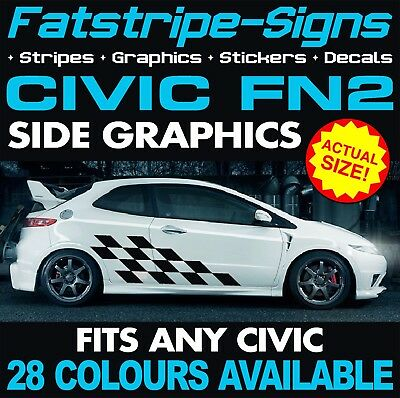 For HONDA CIVIC FD2R Type-R sedan 8th gen 2X Lowered car outline JDM stickers