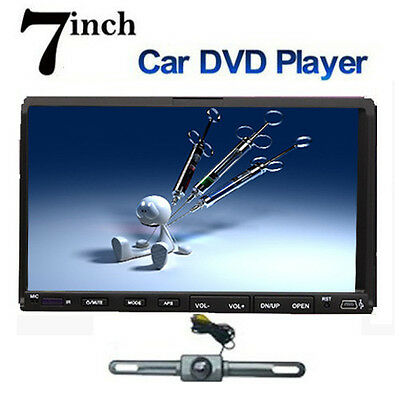 "Double 2 Din 7"" Car DVD CD MP3 Player Touch Screen In Dash Stereo Radio+Camera on Rummage"