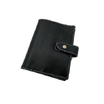 6 Ring Pocket A7 Size Genuine Leather Planner Agenda Black Asian Vintage
