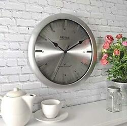 FirsTime Whisper Technology Stanton Steel Wall Clock