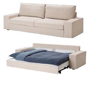 Ikea Kivik Sofabed Slipcover Sleeper Sofa Cover Ingebo Light Beige Removable NEW