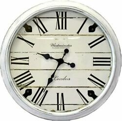 Westminster Clock Company Oversized 30 Wall Clock White FAST FREE SHIPPING