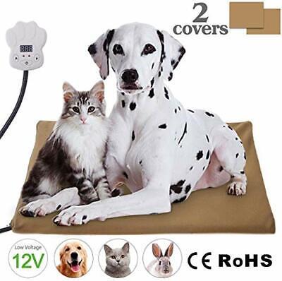 IREGRO Manta Eléctrica para Perros Bajo Voltaje 12V Estera de Calefacción
