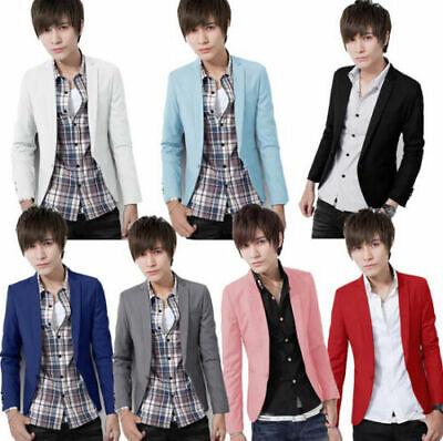 Chic Wholesale Mens Casual Suits 1 Button Slim Fit Blazers Boy Jackets Outwear