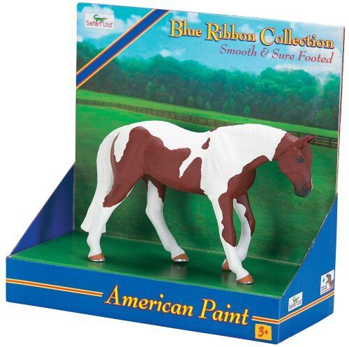 AMERICAN PAINT horse by Safari Ltd/ Blue Ribbon collection/ RETIRED/ 30021
