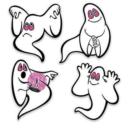 Casper Halloween Party (GHOSTS HALLOWEEN party wall stickers 4 decals friendly silly spirits Casper)