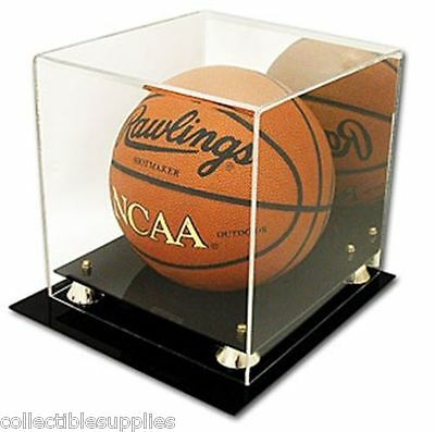 Deluxe UV Protected Full Size Basketball Display Case w/ Mirror Back - Brand New
