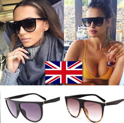 Schwarz Braun Shadow Übergroße Damen Sonnenbrille 400 UV ZIPPER FALL