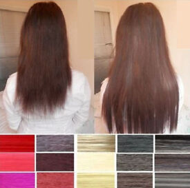 Wholesale Joblot 20X Full Head Straight Clip In Hair Extensions Long