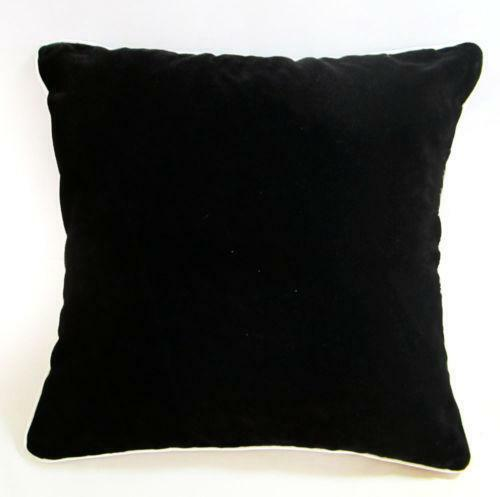 Black Velvet Pillow Ebay