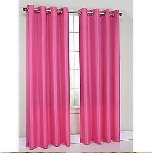 Hot Pink Blackout Curtains Bright Orange Blackout Curta