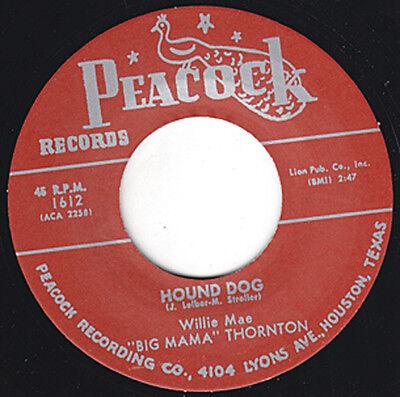"BIG MAMA THORNTON Hound Dog PEACOCK Repro 7"" 1952 R&B Classic Orig. Version HEAR"