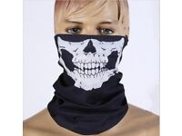 Bicycle Ski Skull Half Face Mask Ghost Scarf Multi Use Neck Warmer