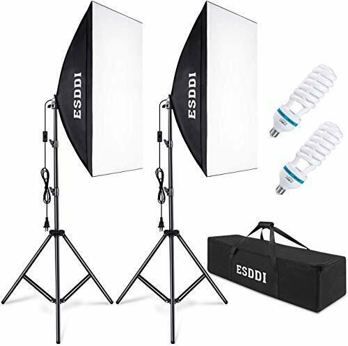 ESDDI Softbox Photography Lighting Kit 800W Continuous Photo Studio Equipment
