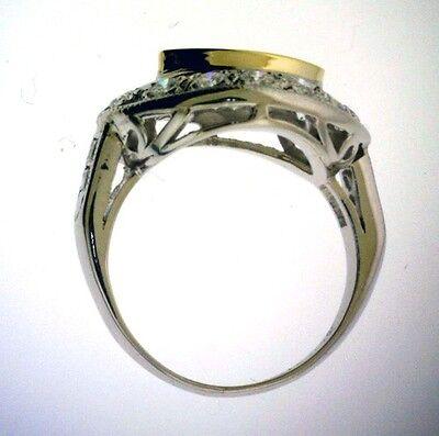 1.01 ct GIA Fancy Yellow Color VS1 Marquise Diamond Platinum Antique Ring 1.70 c 4