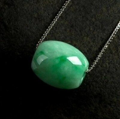 Natural Hand-carved Chinese Jade Necklace bead Pendant