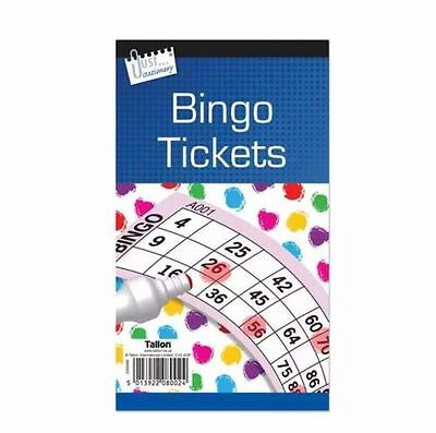 600 Bingo Game Single Ticket Card Flyer Pads Book 100 Sheet Security Coded Party](Bible Bingo Game)