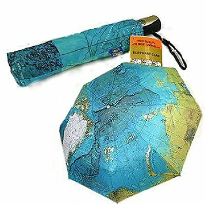 NEW One-touch folding umbrella rain or shine dual function of the world map Dual Function Umbrella