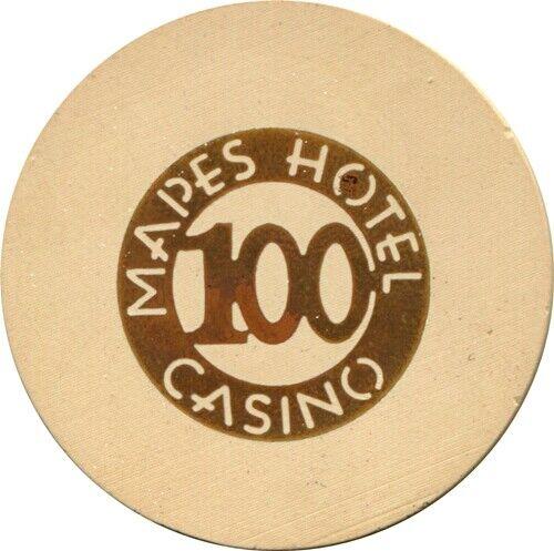 Mapes Hotel, Reno $100 Casino Chip