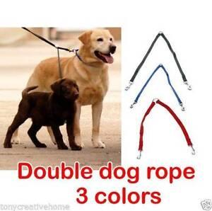 Double Dog Leash lead 2 dogs one lead black blue nylon coupler wa Homebush West Strathfield Area Preview