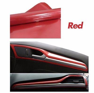 12x60 5D Ultra Shiny Gloss Glossy RED Carbon Fiber Vinyl Wrap Sticker Decal US