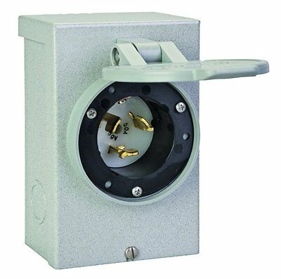 Reliance Controls Corporation PB50 50 Amp NEMA 3R Power Inlet Box, 50-Amp for Ge