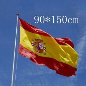 1pcs 90x150cm National Spain Flag Maple Leaf Banner Polyester 3x5 FT Spanish