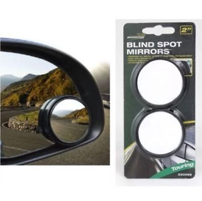2x Convex BLIND SPOT MIRROR Towing Reversing Driving SELF ADHESIVE Car Van Bikes