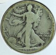 Walking Liberty Half Dollar 1916-S Obverse